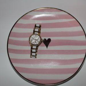 Authentic Michael Kors Gold and White Watch